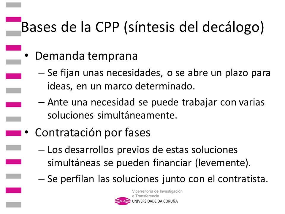 Bases de la CPP (síntesis del decálogo)