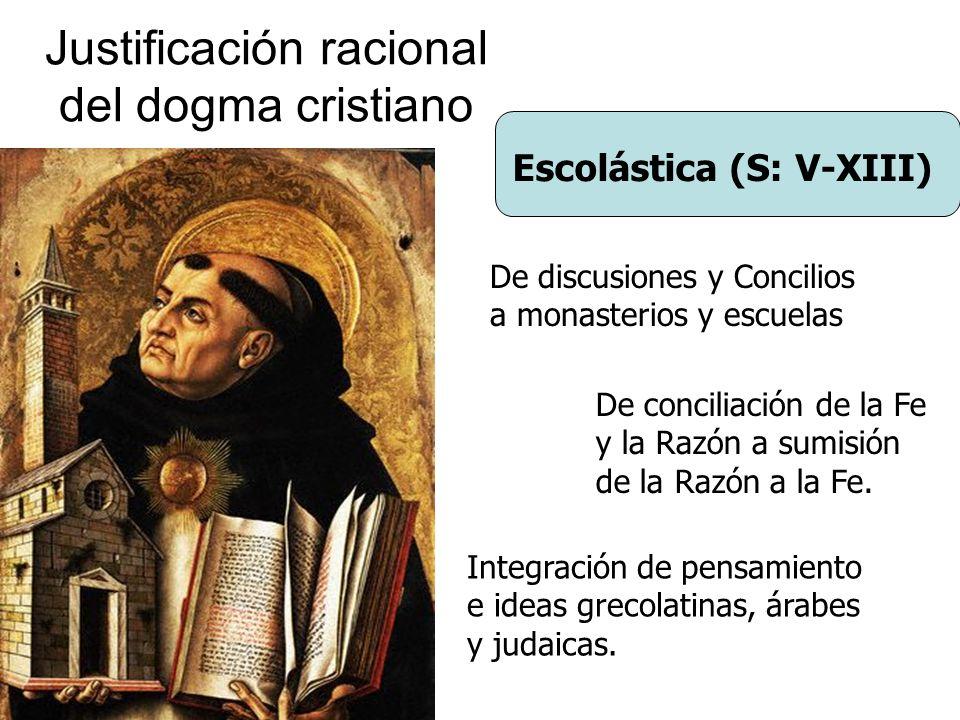 Justificación racional del dogma cristiano