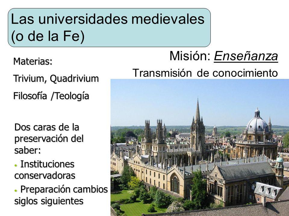 Las universidades medievales (o de la Fe)