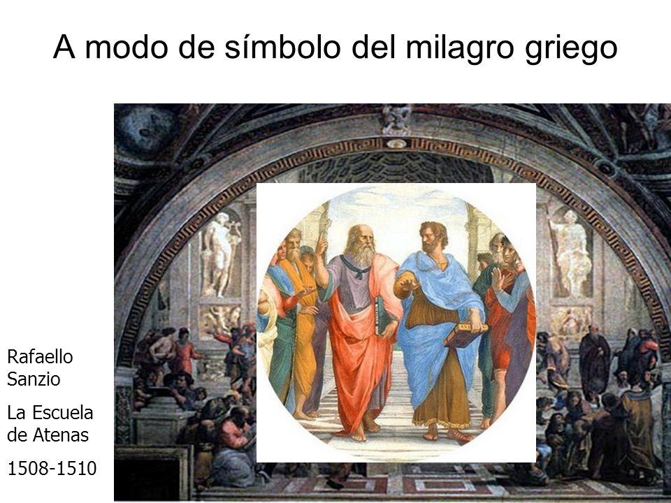 A modo de símbolo del milagro griego