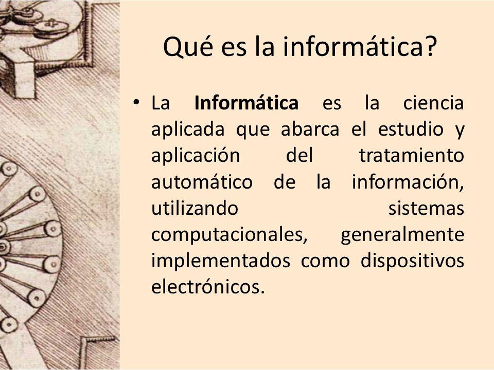 Qué es la informática