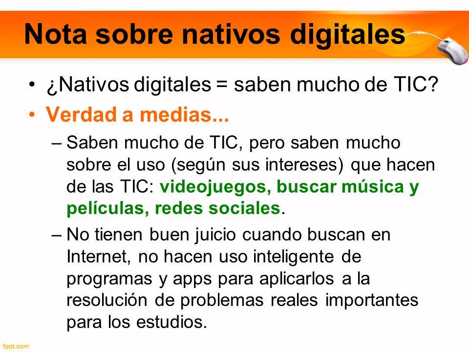 Nota sobre nativos digitales