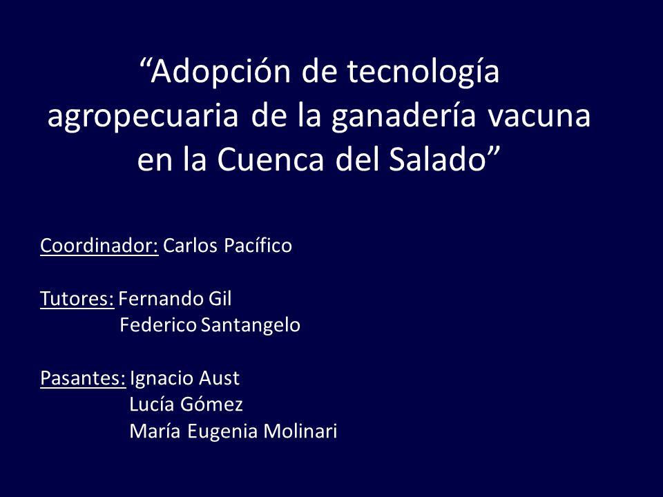 Adopción de tecnología agropecuaria de la ganadería vacuna en la Cuenca del Salado