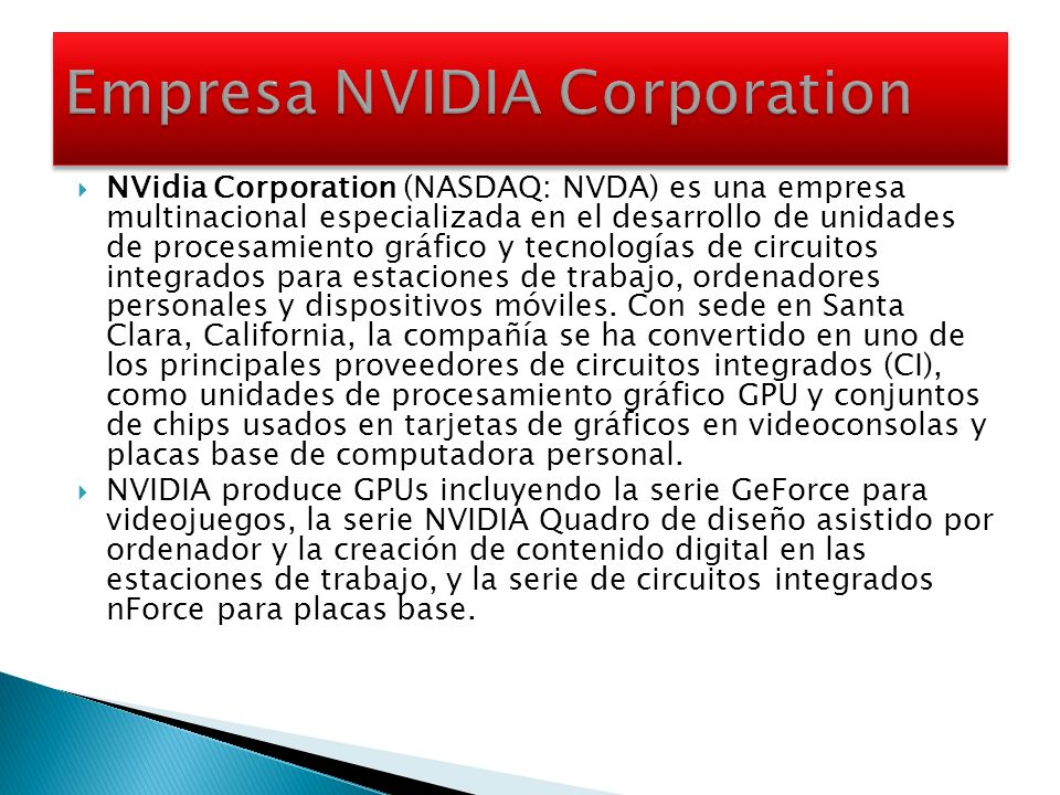 Empresa NVIDIA Corporation