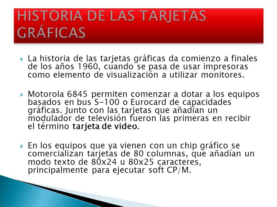HISTORIA DE LAS TARJETAS GRÁFICAS