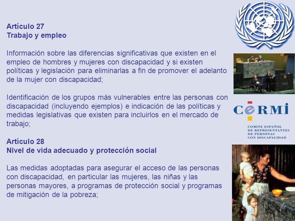 Artículo 27 Trabajo y empleo