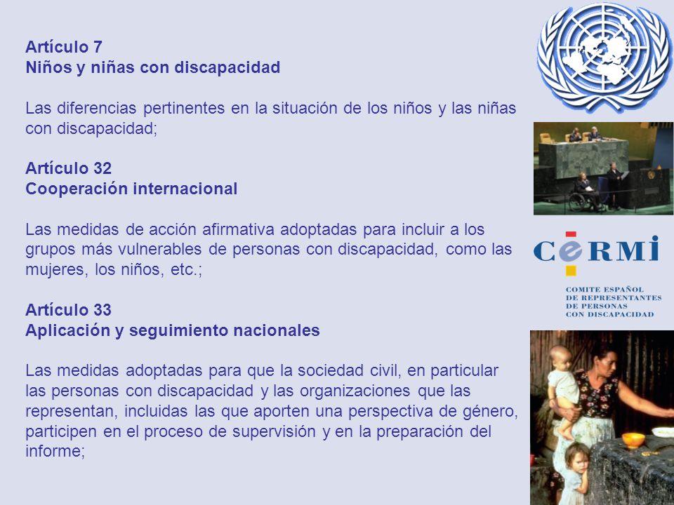 Artículo 7 Niños y niñas con discapacidad