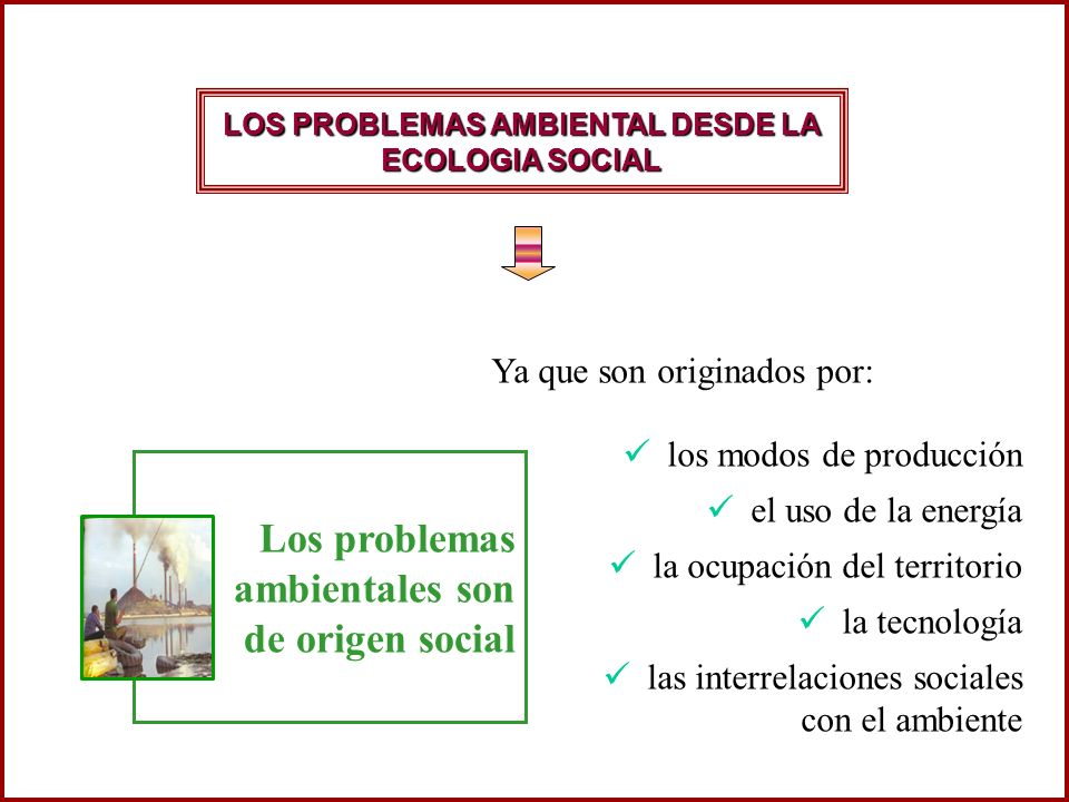 LOS PROBLEMAS AMBIENTAL DESDE LA ECOLOGIA SOCIAL