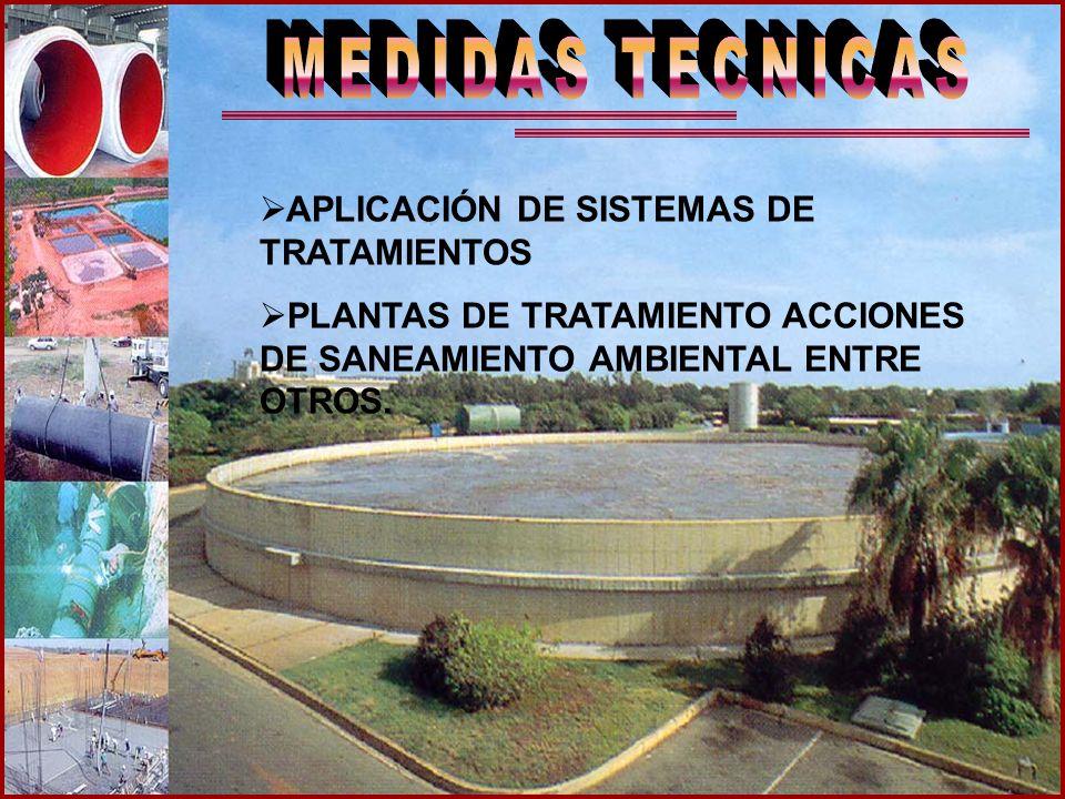 MEDIDAS TECNICAS APLICACIÓN DE SISTEMAS DE TRATAMIENTOS