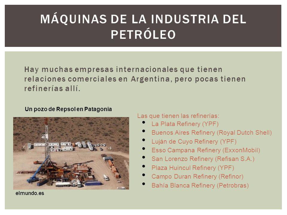Máquinas de la indUstria del petróleo