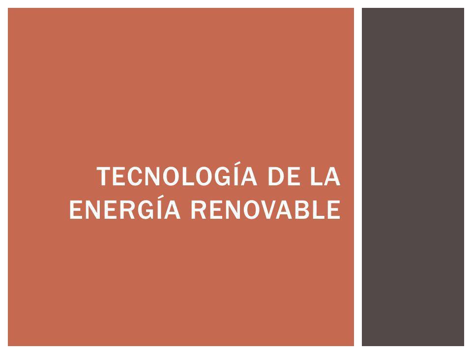 tecnología de la energía renovable