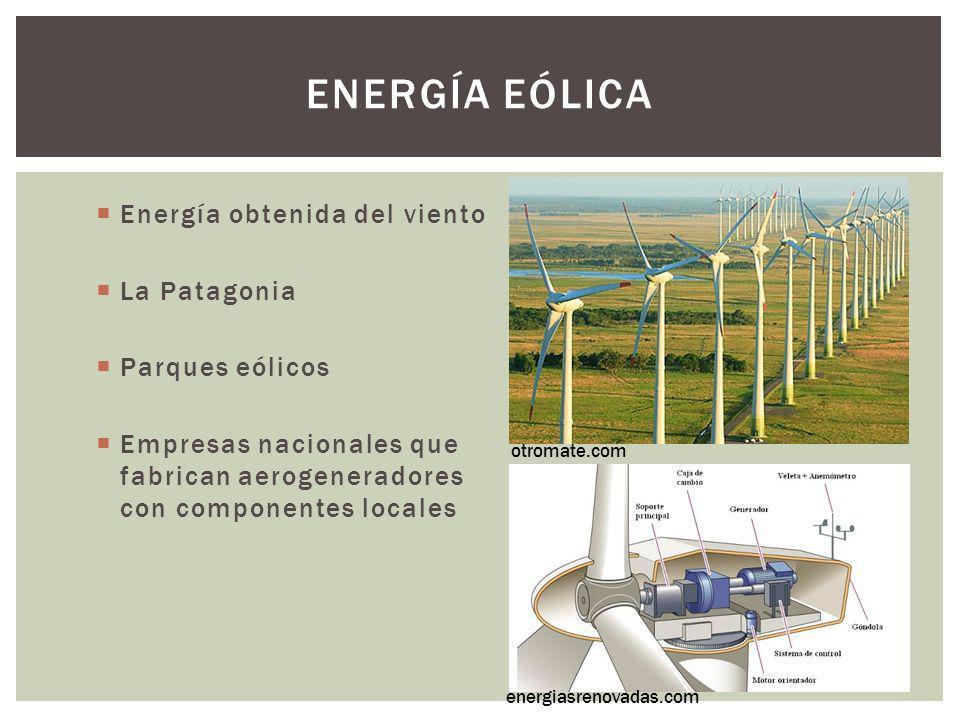 Energía eólica Energía obtenida del viento La Patagonia
