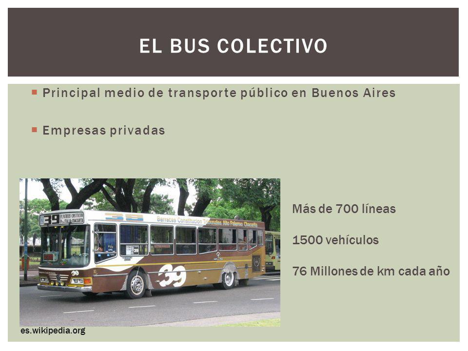 El bus colectivo Principal medio de transporte público en Buenos Aires