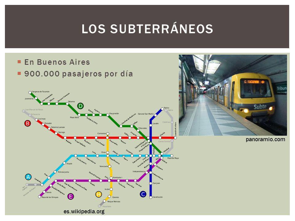 Los subterráneos En Buenos Aires 900.000 pasajeros por día