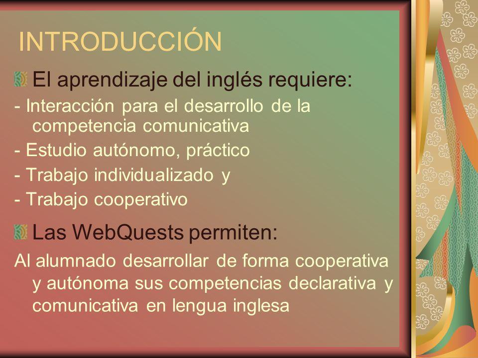 INTRODUCCIÓN El aprendizaje del inglés requiere: