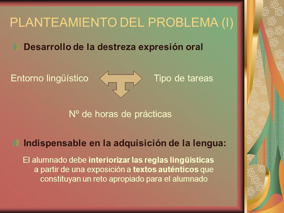 PLANTEAMIENTO DEL PROBLEMA (I)