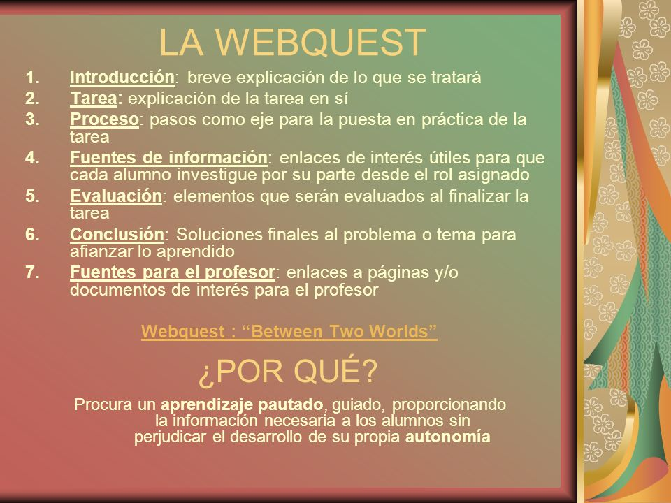 Webquest : Between Two Worlds