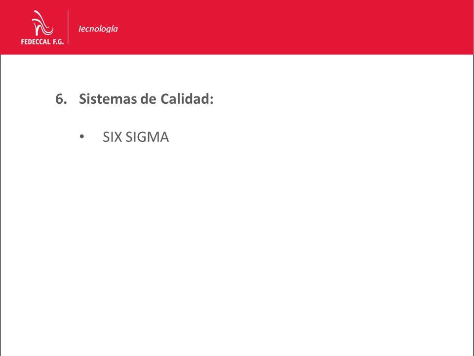 Tecnología Sistemas de Calidad: SIX SIGMA
