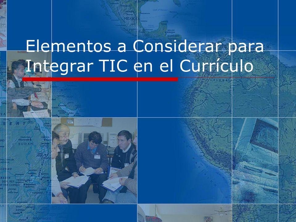 Elementos a Considerar para Integrar TIC en el Currículo