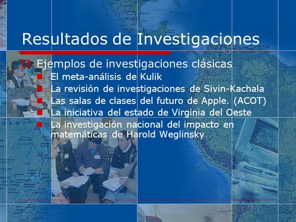 Resultados de Investigaciones