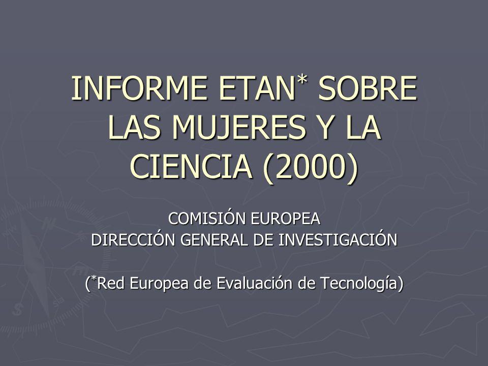INFORME ETAN* SOBRE LAS MUJERES Y LA CIENCIA (2000)