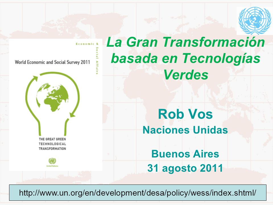 La Gran Transformación basada en Tecnologías Verdes