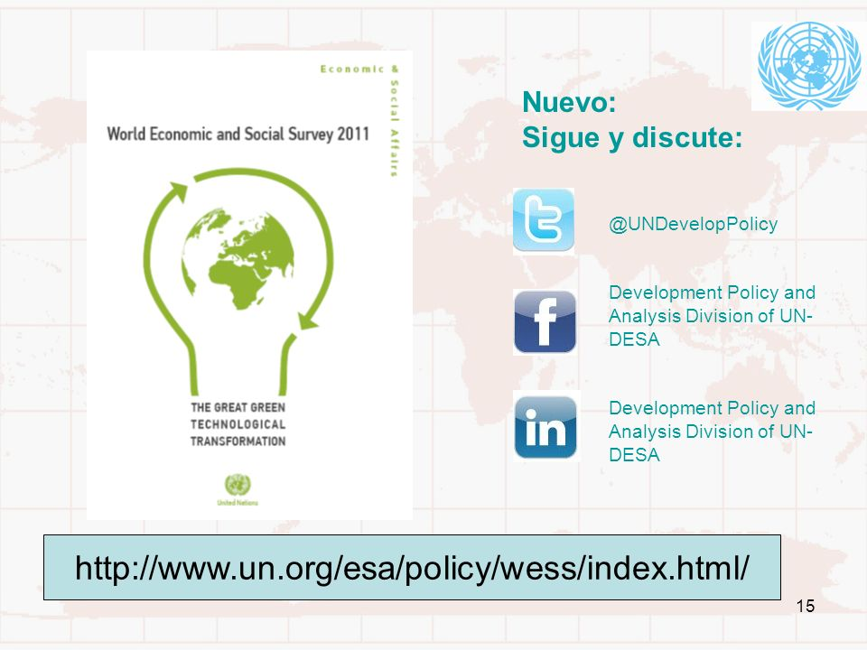 http://www.un.org/esa/policy/wess/index.html/ Nuevo: Sigue y discute: