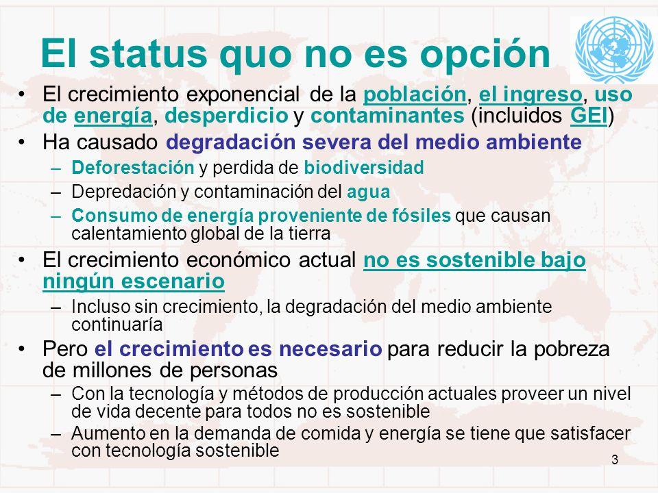El status quo no es opción