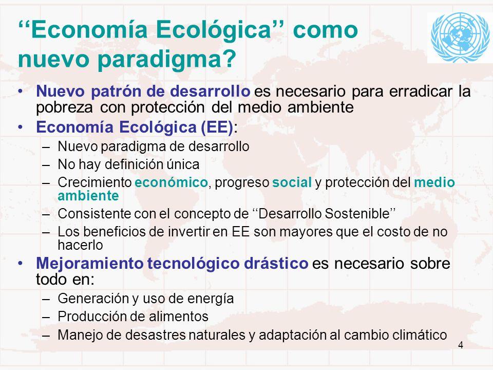 ''Economía Ecológica'' como nuevo paradigma