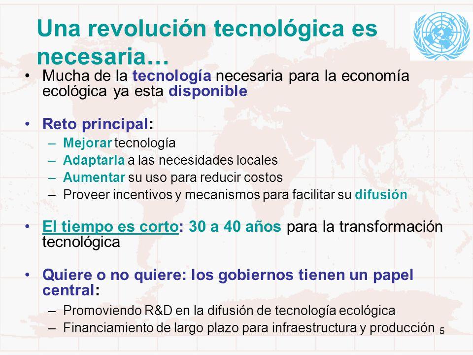 Una revolución tecnológica es necesaria…