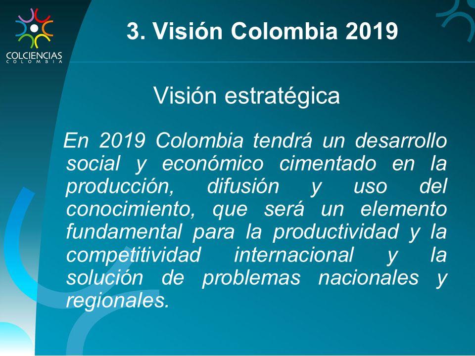 3. Visión Colombia 2019 Visión estratégica