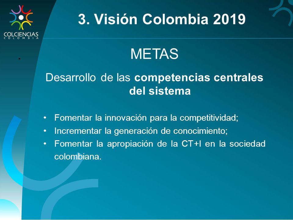 Desarrollo de las competencias centrales del sistema
