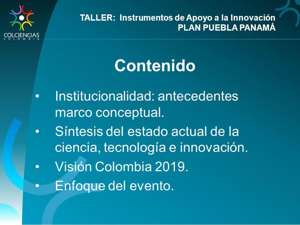 Contenido Institucionalidad: antecedentes marco conceptual.
