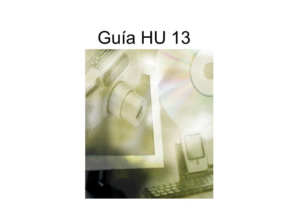 Guía HU 13