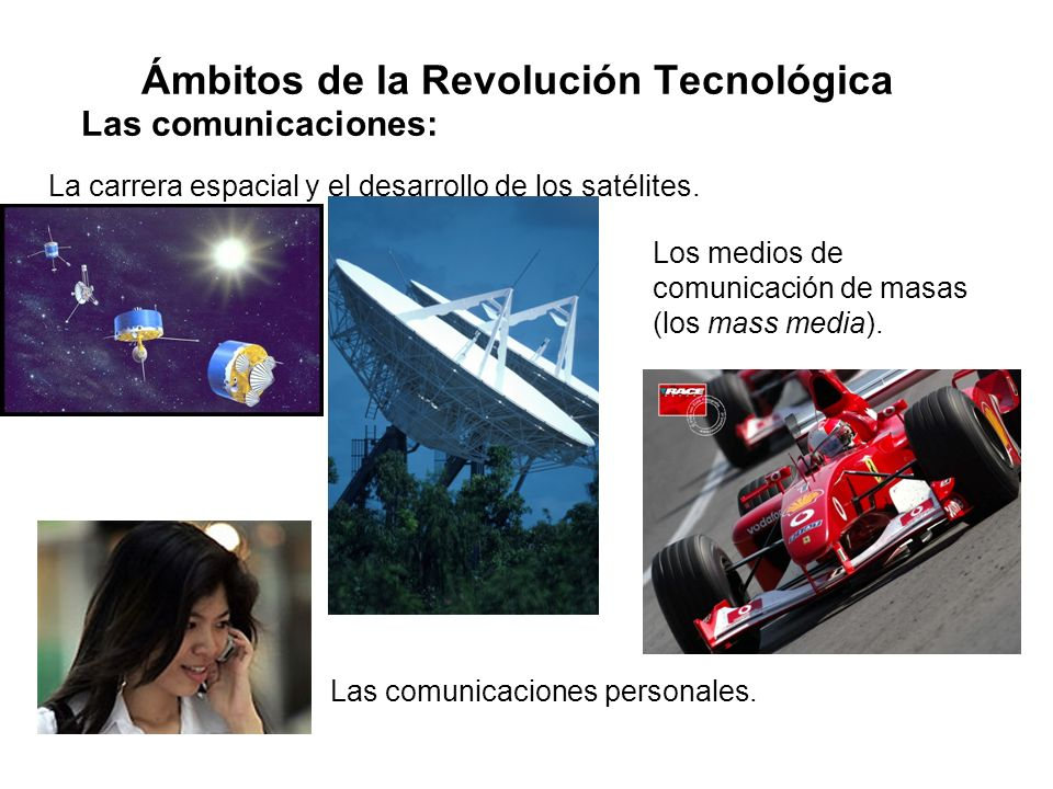 Ámbitos de la Revolución Tecnológica