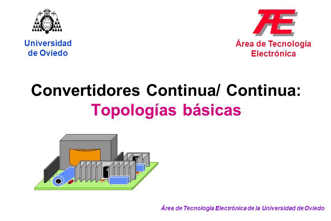 Convertidores Continua/ Continua: Topologías básicas