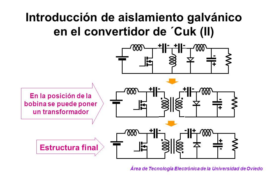 Introducción de aislamiento galvánico en el convertidor de ´Cuk (II)