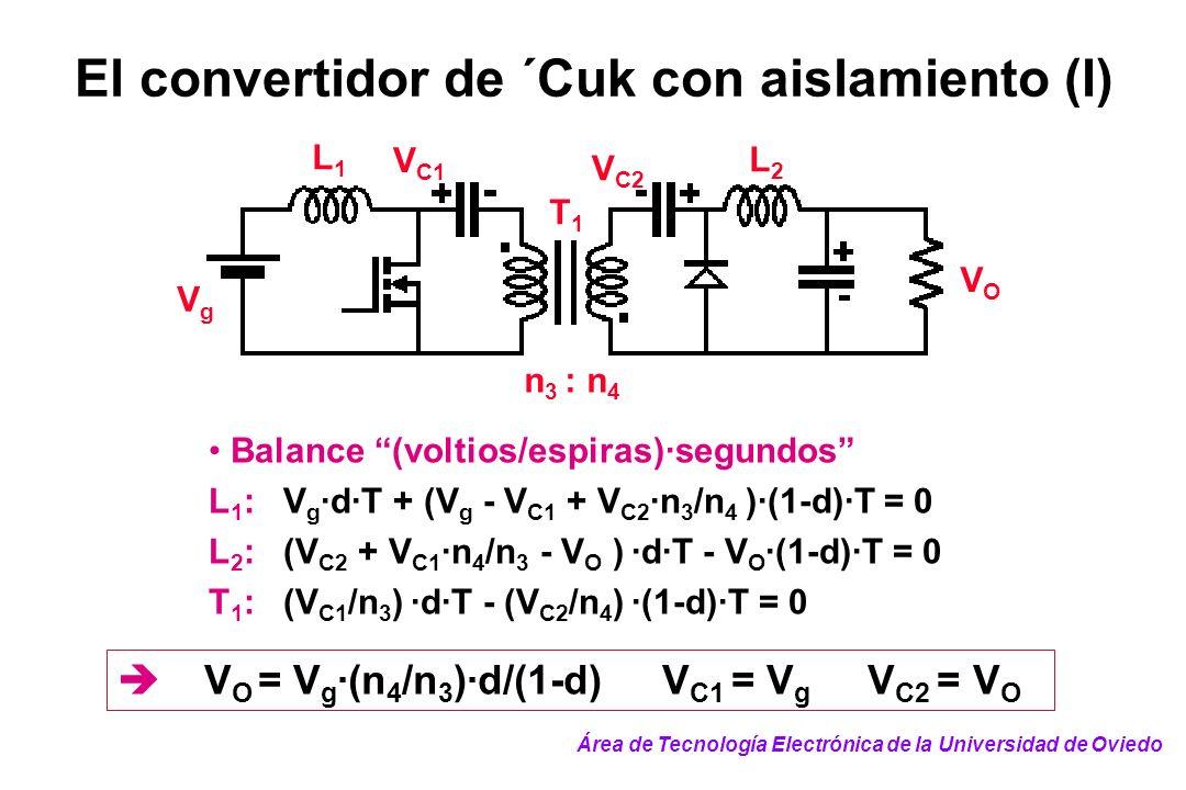 El convertidor de ´Cuk con aislamiento (I)