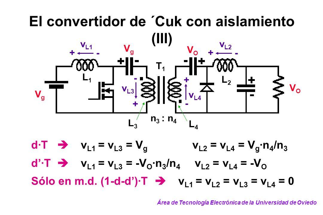 El convertidor de ´Cuk con aislamiento (III)