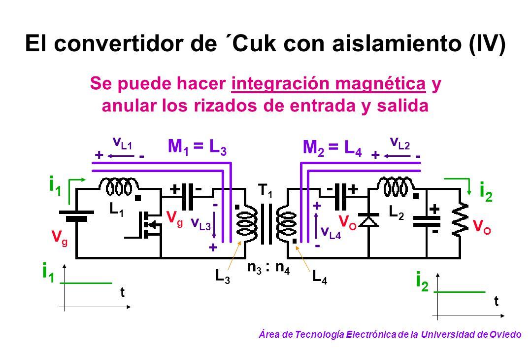 El convertidor de ´Cuk con aislamiento (IV)
