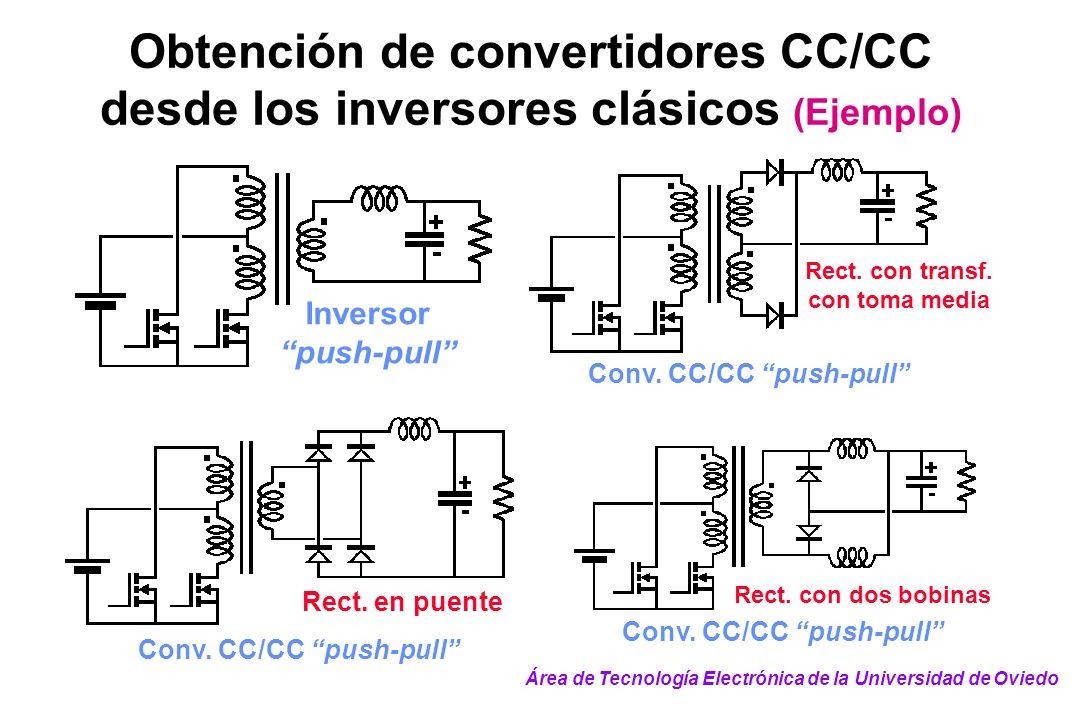 Obtención de convertidores CC/CC desde los inversores clásicos (Ejemplo)