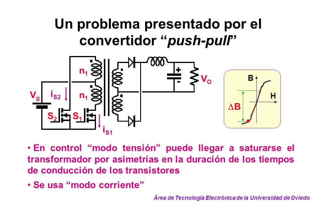 Un problema presentado por el convertidor push-pull