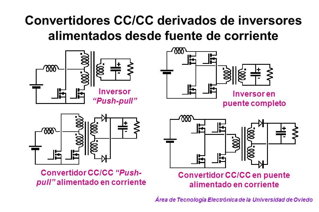 Convertidores CC/CC derivados de inversores alimentados desde fuente de corriente