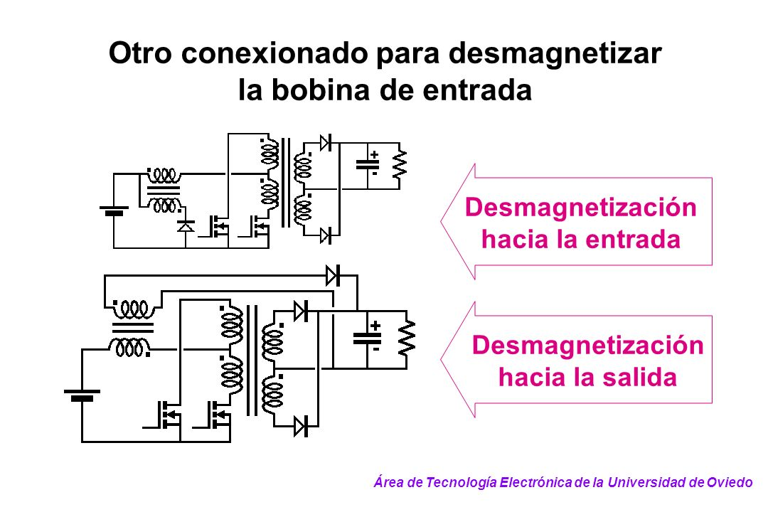 Otro conexionado para desmagnetizar la bobina de entrada