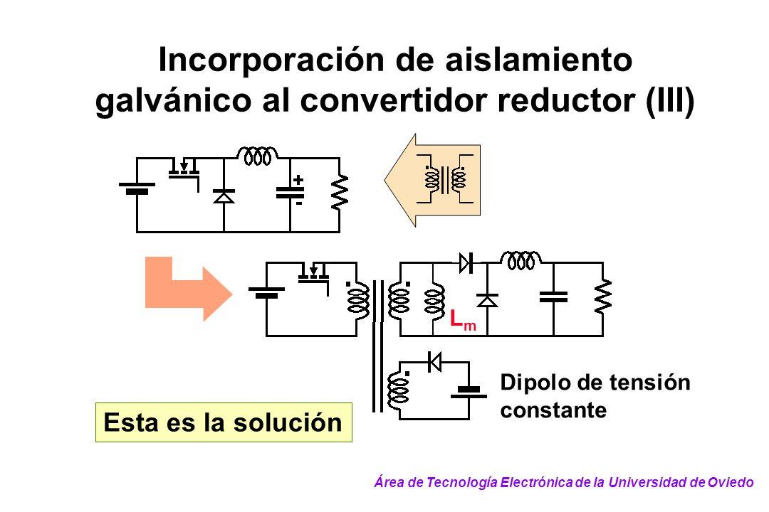 Incorporación de aislamiento galvánico al convertidor reductor (III)