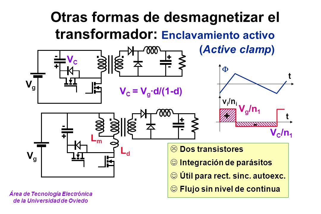 Otras formas de desmagnetizar el transformador: Enclavamiento activo