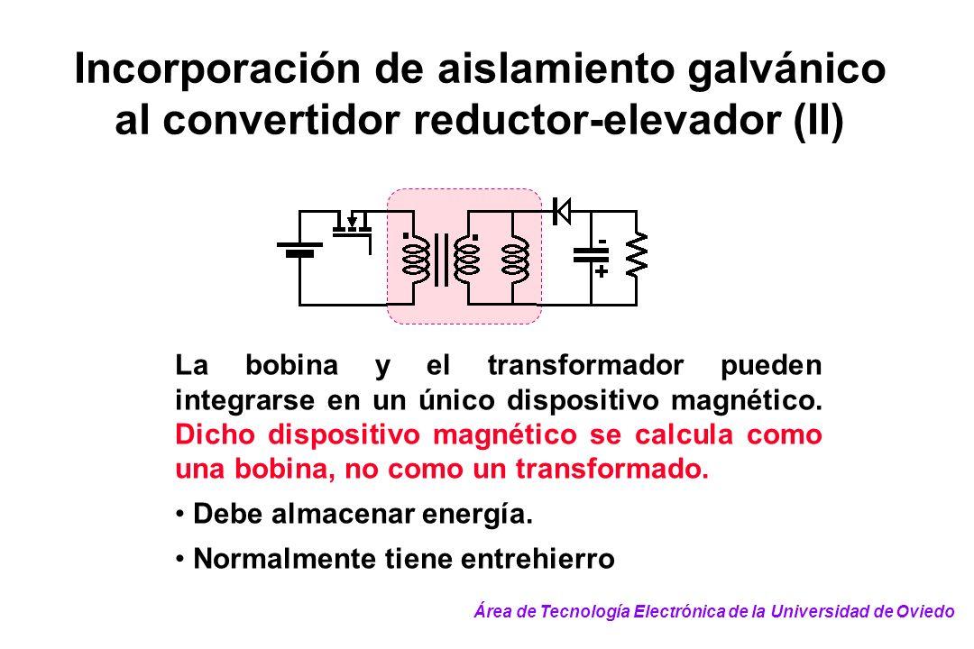 Incorporación de aislamiento galvánico al convertidor reductor-elevador (II)