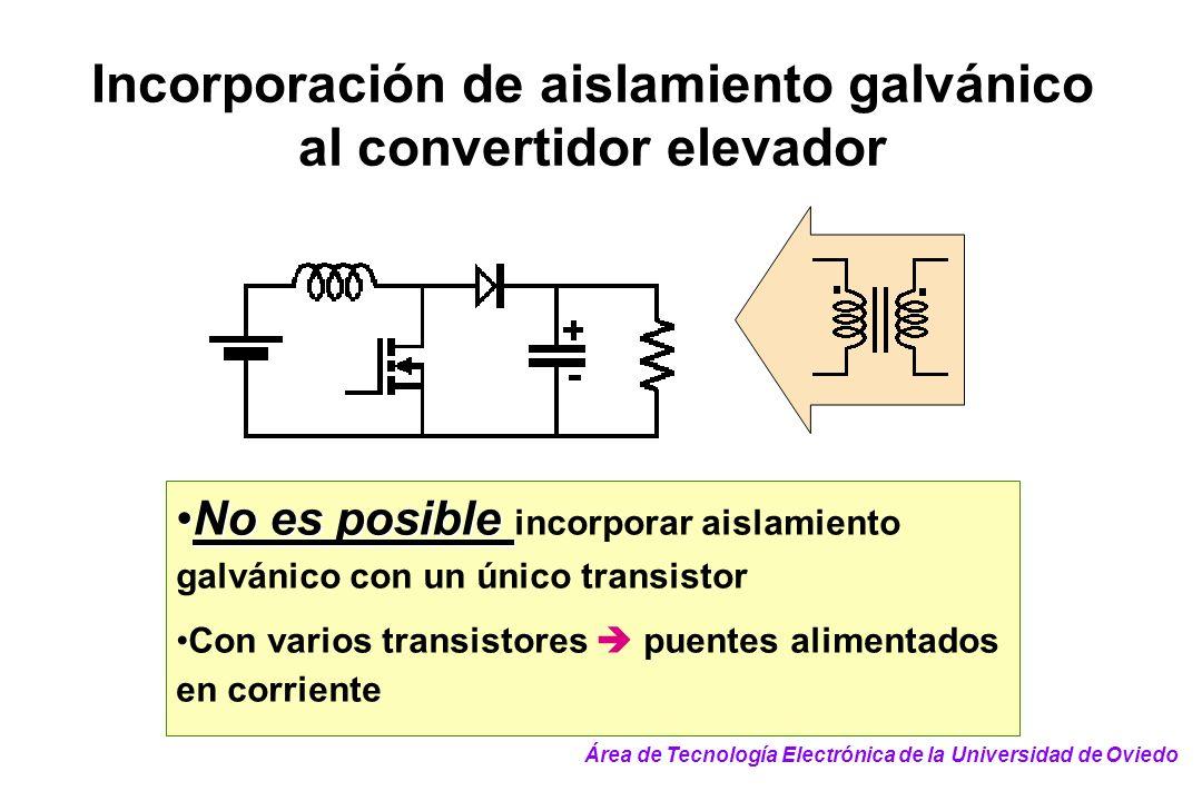 Incorporación de aislamiento galvánico al convertidor elevador