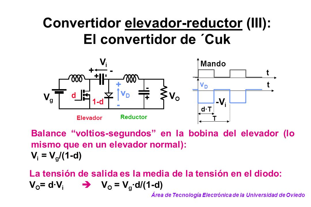 Convertidor elevador-reductor (III):