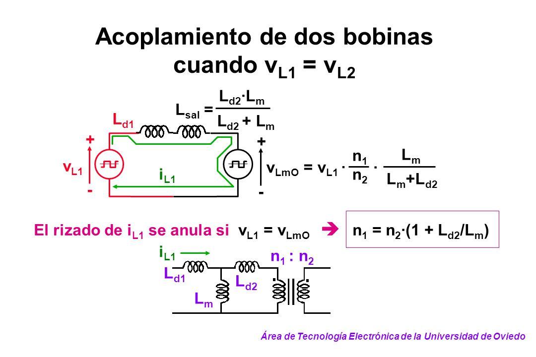 Acoplamiento de dos bobinas cuando vL1 = vL2
